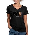 Thomas Paine 3 Women's V-Neck Dark T-Shirt