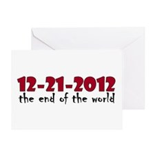 12-21-2012 End of the World Greeting Card