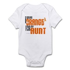 I Wear Orange For My Aunt 6 Infant Bodysuit