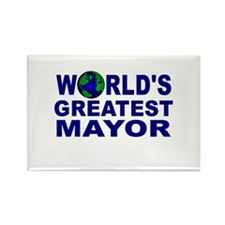 World's Greatest Mayor Rectangle Magnet (10 pack)
