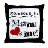 Miami Loves Me Throw Pillow