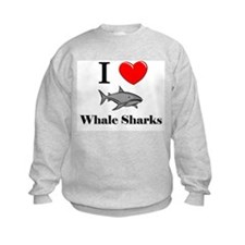 I Love Whale Sharks Sweatshirt