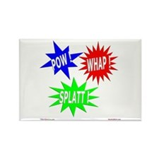 Pow Whap Splatt Rectangle Magnet