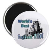 World's Best Tugboat Pilot t Magnet