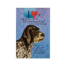 German Wirehaired Pointer Rectangle Magnet