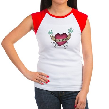Big Sister Heart Tattoo Women's Cap Sleeve T-Shirt