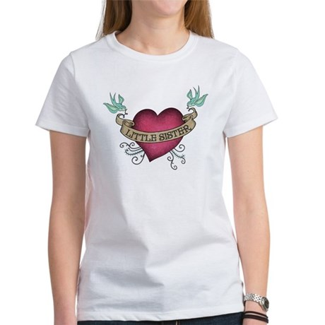 Little Sister Heart Tattoo Women's T-Shirt