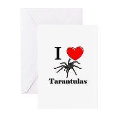 I Love Tarantulas Greeting Cards (Pk of 10)