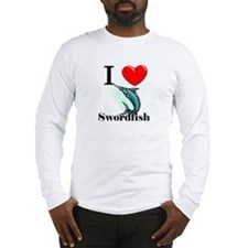 I Love Swordfish Long Sleeve T-Shirt