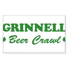 GRINNELL beer crawl Rectangle Decal