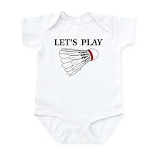 Let's Play Badminton Infant Bodysuit