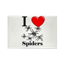 I Love Spiders Rectangle Magnet