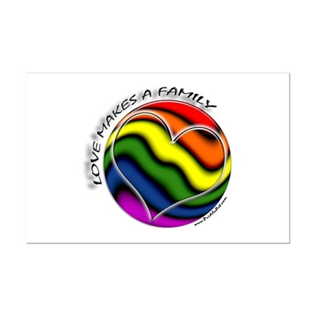 Love Makes A Family Gay Pride Mini Poster Print