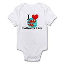 I Love Saltwater Fish Infant Bodysuit