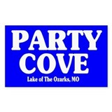 Party Cove Rectangle Decal