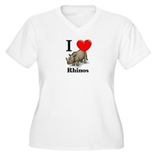 I Love Rhinos T-Shirt