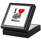 I Love Rhinos Keepsake Box