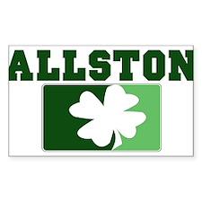 ALLSTON Irish (green) Rectangle Decal