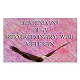 Revolutionary Veteran Rectangle Decal