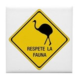 Respect Wildlife, Argentina Tile Coaster