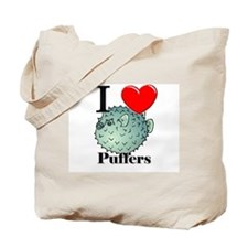 I Love Puffers Tote Bag
