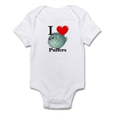 I Love Puffers Infant Bodysuit