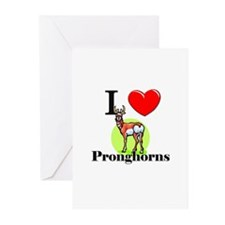 I Love Pronghorns Greeting Cards (Pk of 10)