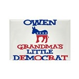 Owen - Grandma's Little Democ Rectangle Magnet