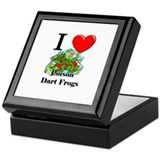 I Love Poison Dart Frogs Keepsake Box