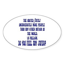 Jail Time Oval Decal