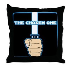 The Chosen One-Blue Throw Pillow