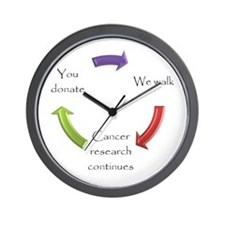 Cute Relay for life Wall Clock