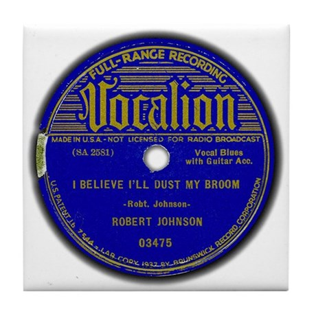 Vocalion Label, Dust My Broom Tile Coaster