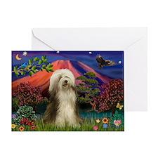 Mt Fuji / Bearded Collie Greeting Card