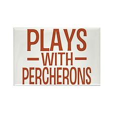 PLAYS Percherons Rectangle Magnet