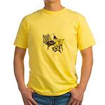 Woman at Weaving Loom Yellow T-Shirt