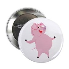 "Dancing Pig 2.25"" Button (100 pack)"