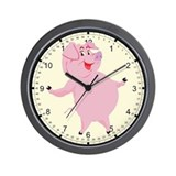Dancing Pig Wall Clock