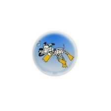 Scuba Diving Dog Mini Button (10 pack)