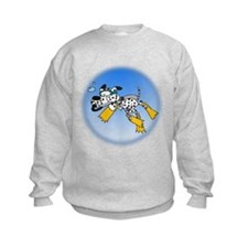 Scuba Diving Dog Sweatshirt