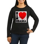 I Love Obama Women's Long Sleeve Dark T-Shirt