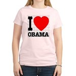 I Love Obama Women's Light T-Shirt