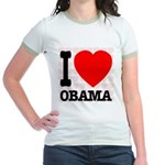 I Love Obama Jr. Ringer T-Shirt