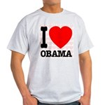 I Love Obama Light T-Shirt