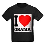 I Love Obama Kids Dark T-Shirt