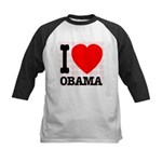 I Love Obama Kids Baseball Jersey
