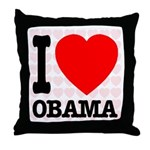 I Love Obama Throw Pillow