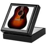 Classic Vintage Sunburst J-45 Keepsake Box
