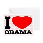 I Love Obama Greeting Cards (Pk of 20)