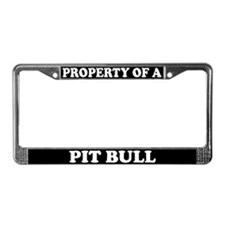 Property Of A Pit Bull License Plate Frame